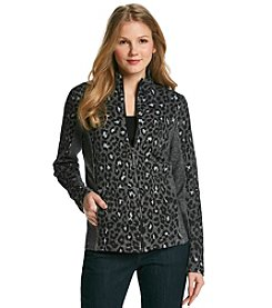 Jones New York Sport® Petites' Animal Print Zip Jacket
