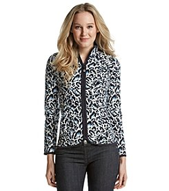 Jones New York Sport® Petites' Animal Print Zip Up Jacket