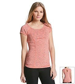 Calvin Klein Performance Space Dye Cut Out Back Top