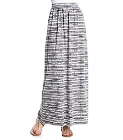 Ruff Hewn Tie Dye Stripe Burnout Maxi Skirt