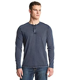 DKNY JEANS® Men's Over Dyed Thermal Mix Snap Henley