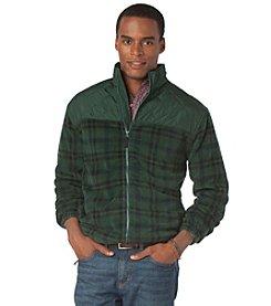 Chaps® Men's Quilted Plaid Polar Fleece Jacket