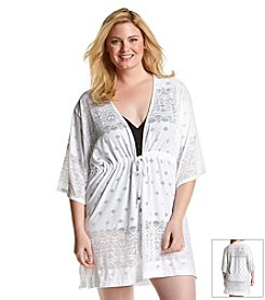 Dotti Plus Size All Deco'd Out Kimono Coverup