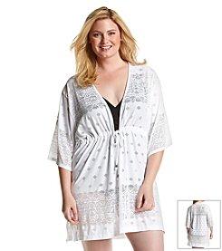 Dotti Plus Size All Deco'd Out Kimono Coverup