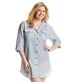 Dotti Plus Size Summer Camp Coverup Shirt