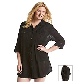 Dotti® Plus Size Sensation Coverup Shirt