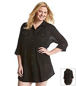 Dotti® Plus Size Sensation Coverup Shirt