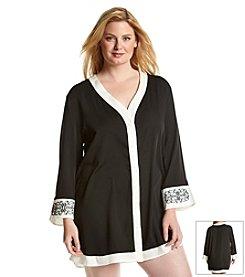 Dotti® Plus Size Black Out Shirt Coverup Dress