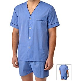 Majestic Men's Shorty Cotton Pajama Set
