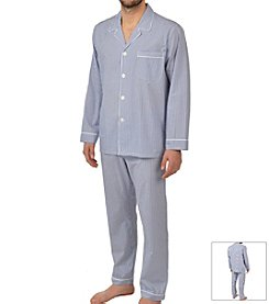 Majestic Men's Long Sleeve Cotton Pajama Set