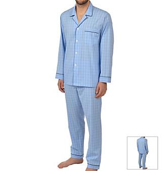 Majestic Men's Plaid Pajama Set
