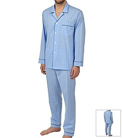 Majestic Men's Plaid Pajama Set