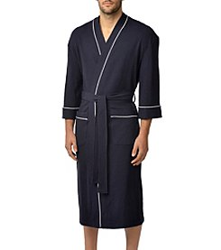 Majestic Men's Waffle Knit Kimono Robe