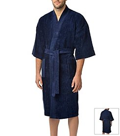 Majestic Men's Basic Terry Velour Kimono Robe