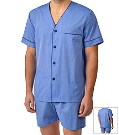 Majestic Men's Easy Care Shorty Pajama Set