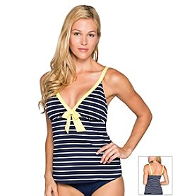 Beach House® Skipper Stripe Tankini Top