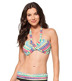 Anne Cole® Geo Stripe Halter Swim Top