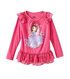 Nannette® Girls' 4-6X Sofia Ruffle Long Sleeved Tee *