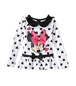 Nannette® Girls' 4-6X Minnie Ruffle Long Sleeved Tee *
