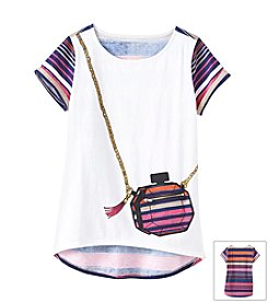 Jessica Simpson Girls' 7-16 Ellie Graphic Purse Tee