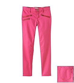 Jessica Simpson Girls' 7-16 Twill Pants With Zipper