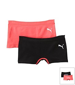 PUMA® Girls' 2 Pack Boyshorts Underwear