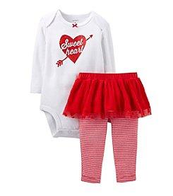 Carter's® Baby Girls' 2-Piece Valentine's Tutu And Leggings Set