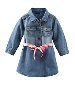 OshKosh B'Gosh® Baby Girls' Long Sleeve Denim Shirt Dress
