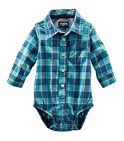 OshKosh B'Gosh® Baby Boys' Long Sleeve Plaid Woven Bodysuit