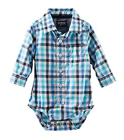 OshKosh B'Gosh® Baby Boys' Long Sleeve Woven Bodysuit