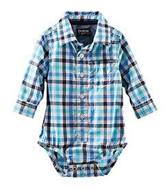 OshKosh B'Gosh® Baby Boys' Long Sleeve Woven Bodysuit