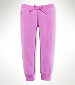 Ralph Lauren Childrenswear Girls' 2T-4T Fleece Pants