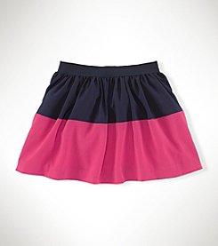 Ralph Lauren Childrenswear Girls' 2T-6X Striped Print Skirt