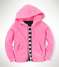Ralph Lauren Childrenswear Girls' 2T-6X Full Zip Fleece