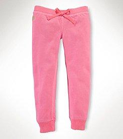 Ralph Lauren Childrenswear Girls' 2T-6X Fleece Pants