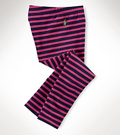 Ralph Lauren Childrenswear Girls' 2T-6X Pink Striped Leggings