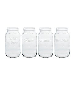Cathy's Concepts Wedding Party 26-oz. Set of 4 Mason Jars