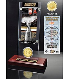 NHL® Anaheim Ducks Stanley Cup Champions Ticket and Bronze Coin Desktop Acrylic