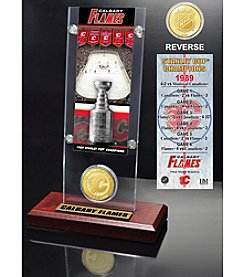 NHL® Calgary Flames Stanley Cup Champions Ticket and Bronze Coin Desktop Acrylic