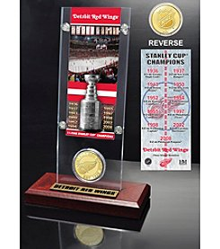 NHL® Detroit Red Wings 11-Time Stanley Cup Champions Ticket and Bronze Coin Desktop Acrylic