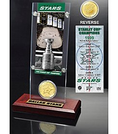 NHL® Dallas Stars Stanley Cup Champions Ticket and Bronze Coin Desktop Acrylic