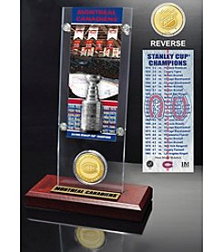 NHL® Montreal Canadiens 24-Time Stanley Cup Champions Ticket and Bronze Coin Desktop Acrylic