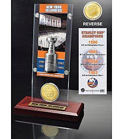 NHL® New York Islanders Five-Time Stanley Cup Champions Ticket and Bronze Coin Desktop Acrylic