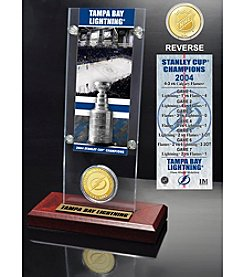 NHL® Tampa Bay Lightning Stanley Cup Champions Ticket and Bronze Coin Desktop Acrylic