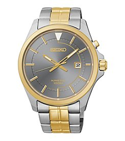 Seiko® Men's Two-Tone Kinetic Calendar Watch