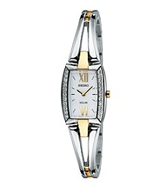 Seiko® Women's Two Tone Solar Bangle Watch