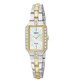 Seiko® Women's Two Tone Diamond Solar Dress Watch