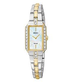 Seiko® Women's Two Tone Diamond Solar Dress Watch