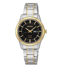Seiko® Women's Two-Tone Stainless Steel Solar Watch