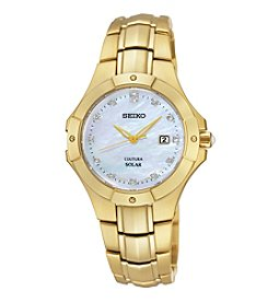 Seiko® Women's Goldtone Stainless Steel Solar Watch